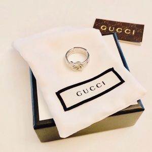 New Authentic Gucci Grande Knot Ring Size 8.25